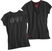 VW Femme Large Noir Rouge GTI T-Shirt-Genuine VW Merchandise 3373abf200d