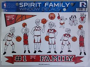 Chicago Bulls Spirit Family Window Decal Set