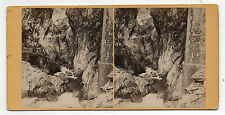 PHOTO - Vue Stéréo - N°141 Gouffre de Hourat Route des Eaux Chaudes - Vers 1900