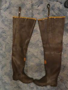 La Crosse Outdoorsman Rubber Waders Size 10