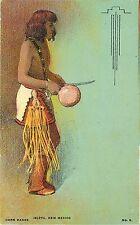 1907-15 Print Postcard Native American Corn Dance Isleta New Mexico No. 6 Unused