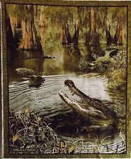 "Alligators Fabric Panel Real Tree Camo 100% Cotton Large Panel 36"" x 44"""