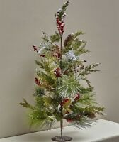 Tabletop Pine Christmas Tree Country Rustic Holiday Home Decor 1-Pc