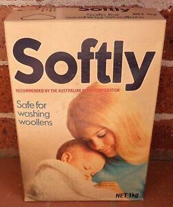 VINTAGE 1970's SOFTLY WASHING POWDER PACKET UNOPENED