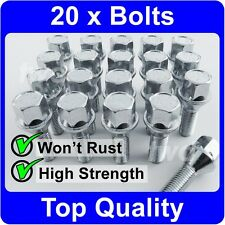 H4b 20 x ALLOY WHEEL BOLTS /& LOCKS FOR SAAB 9-3 // 9-5 M12x1.5 SECURITY NUTS