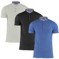 Mens Designer Brave Soul Cotton Polo Top T Shirt Pique S M L XL XXL