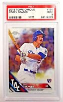 2016 Topps CHROME Corey Seager Rookie #150 RC LOT of 2 Cards Both PSA 9!