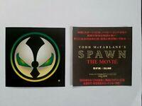 """SPAWN the MOVIE 1997 ORIGINAL TODD McFARLANE'S  4.25"""" Sticker Japan Market Flyer"""