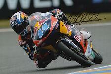 Miguel Oliveira mano firmado 12x8 Foto 2015 Moto3 Red Bull KTM Ajo 3.