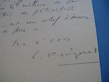 EMMANUEL FOUGERAT Autographe Signé 1934 PEINTRE HISTORIEN ART NANTES à BERAUD