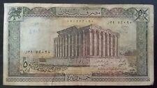 50 Livres Banknote Lebanon