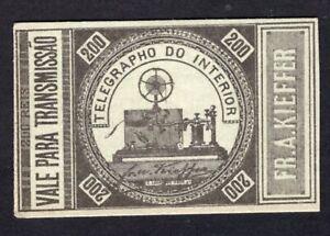 Brazil 1870 telegraph stamp Yvert#1a MH CV=1300€ RARE!! R!R!