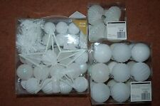 ❄️ New 50 Shatterproof White Christmas tree baubles + 4 Onion Style +18 Baubles