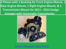 4 Pieces of Motor & Transmission Mount for 2011 - 2014 Dodge Avenger w/Front Ins