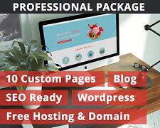 Professional Web Design & Build - Web Hosting & Domain - Website - Professional