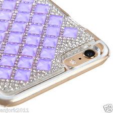 """iPhone 6 Plus (5.5"""") Snap Fit Back Cover 3D Bling Gem Case Purple Diamond"""