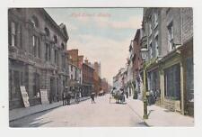 Rugby,U.K.High Street,Horse Drawn Wagons,Warwickshire,c.1909