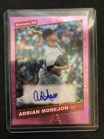 2020 Donruss #86S-AM ADRIAN MOREJON Pink Firework Auto 11/49