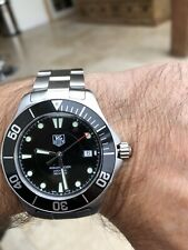 Tag Heuer Aquaracer Automatic steel black dial watch wab2010 Fully Serviced