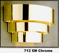 """TIMELY 712 CH Chrome WALL Sconce LIGHT FIXTURE 1-Lt 100W Max 12""""x 7""""x 5.75"""" NEW"""