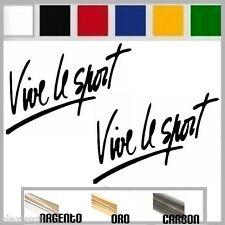 coppia adesivo sticker decal VIVE LE SPORT renault,peugeot,citroen prespaziato