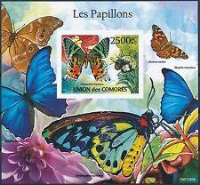 [GBIN6669] Comores 2011 Butterflies Fauna Good sheet IMPERF. very fine MNH