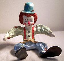 "Ceramic Clown Figurine Textured Hair Great Detail 11"" x 11"" x 10"""