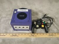 Nintendo GameCube Console Indigo Purple Violet Controller TESTED PARTS AS IS