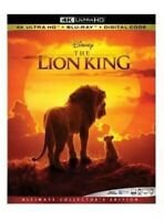 NEW! Disney THE LION KING (2019 4K HD + Blu-ray + Digital Code w/ Slipcover