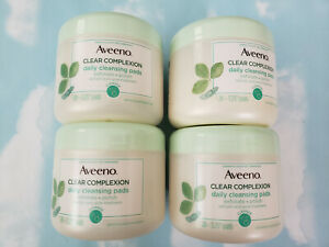 LOT(4) AVEENO CLEAR COMPLEXION DAILY CLEANSING PADS   28 PADS EACH