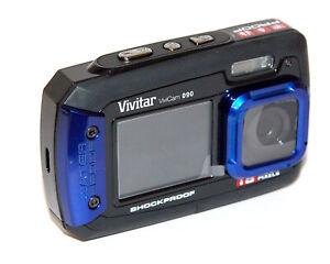 VIVITAR 090 UNDERWATER / SHOCKPROOF  DIGITAL CAMERA BLUE. IDEAL FOR KIDS/ BEACH!