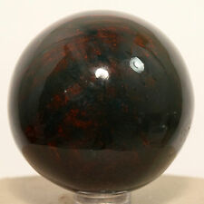 """2"""" Bloodstone Sphere Natural Colorful Mineral Heliotrope Crystal Stone - India"""