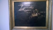 BRITISH Circle JOHN MARTIN  Crucifixion OIL PAINTING ANTIQUE Christ Christian
