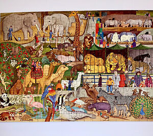 RARE 1980 Ravensburger Stroll Through The Zoo 280 Piece Puzzle Vintage 80s Otto