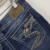 Silver Suki Surplus Boot Cut Women's Dark Wash Blue Jeans Size 29 x 30