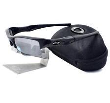 Oakley 24-433 POLARIZED FLAK JACKET XLJ Matte Black Iridium Mens Sunglasses .