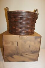 Longaberger CC Collectors Club Antiqued Medium Bushel Basket Set - New!