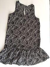 Joie Floral Silk Frill Edge Mini Dress Size S