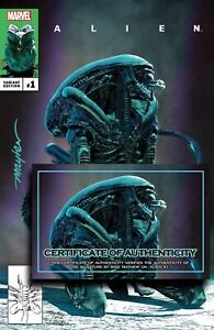 ALIEN #1 Mike Mayhew Studio Variant Cover Signed with COA