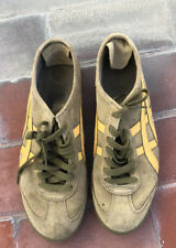 Onitsuka Tiger Mens Olive Leather and Suede Shoes Rare Vintage Size 9us