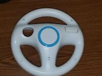 Nintendo Wii White Racing Steering Wheel for Mario Kart (RVL-024) Genuine OEM