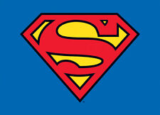 SUPERMAN CLASSIC LOGO POSTCARD *OFFICIALY LICENSED*