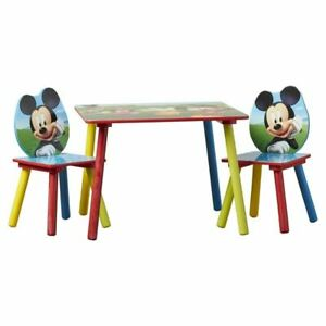 Delta Children Mickey Mouse Kids 3 Piece Writing Table and Chair Set DEL1667