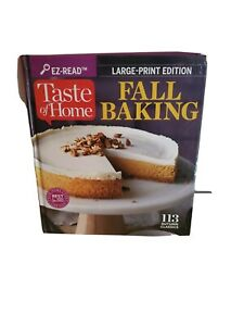 Taste of Home Fall Baking Cook Book Large Print Edition Hardcover