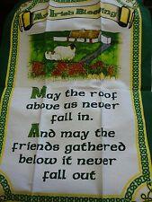 IRELAND irlandese Benedizione maggio il tetto sopra di noi non rientrano nel tè Asciugamano