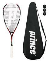 Prince Pro Airstick Lite 550 Squash Racket + Cover + 3 Balls RRP £170