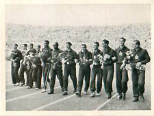 Team of USA, Russia, Hungary 4x100 m Relay Olympic Games 1952 CARD IMAGE 50s