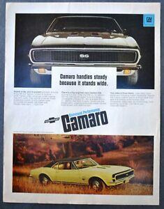 1969 Chevrolet Yellow Camaro SS Coupe Sale vintage print Ad Original