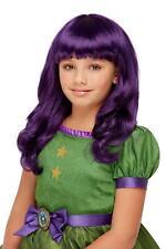 Santoro The Hour Wig Purple Childrens Witch Halloween Wig Fancy Dress Girls Wig