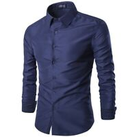 Casual Top Luxury Blouse T Shirt Floral New Stylish Mens Long Sleeve Fashion